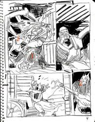 Solomon Kane layouts by MGuevara