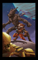 Guardians of the Galaxy,whit color:David ocampo by MGuevara