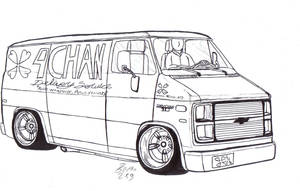 4Chan Delivery Van lineart by Mister-Lou
