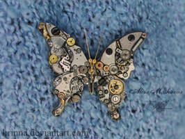 Steampunk butterfly 2 (old work) by Krinna