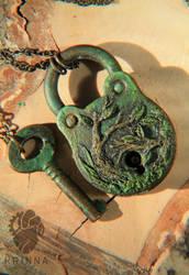 Key and Padlock by Krinna
