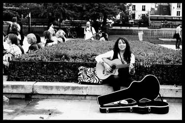 She, the guitar and the music by GrinWicz