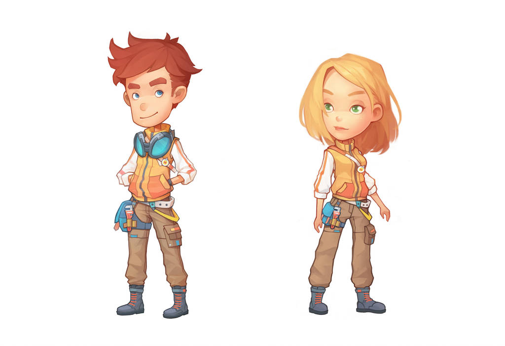 Clothes in My Time At Portia by PatheaGames