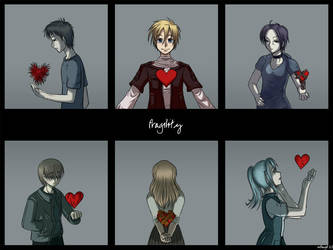 Fragility - Hearts by rufiangel