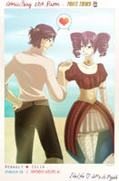 Pirate Prom Crossover Exchange - Renault x Celia by rufiangel