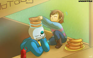 Undertale - Hot dog Revenge by rufiangel