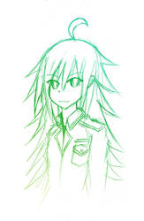Yamane in Green by VermillionFenrir