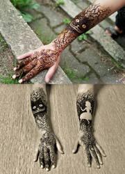 Alice in Wonderland henna by cydienne