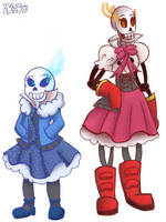 Undertale Sans and Papyrus genderbend by Ithiliam