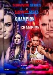 Becky Lynch vs Ronda Rousey by AdeelAnjum