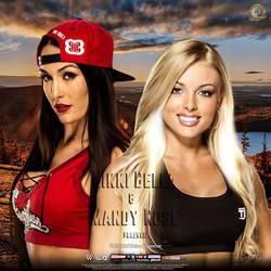 Mandy Rose and Nikki Bella by AdeelAnjum