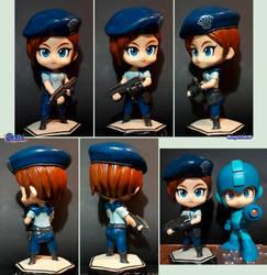 Nendoroid style Jill Valentine figure by Gregarlink10