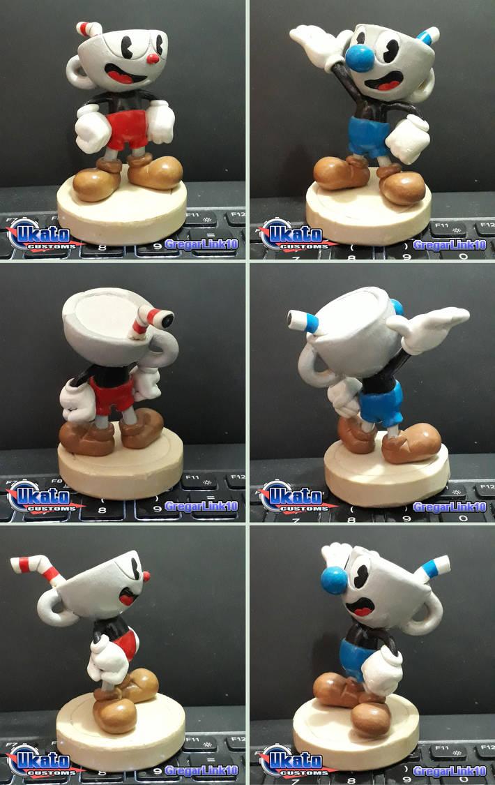 Cuphead and Mugman custom figures by Gregarlink10