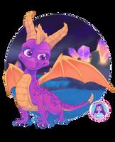 Spyro sketch by thehappygirl
