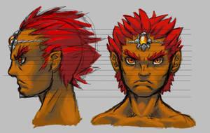 Young ganon face study by Iroas