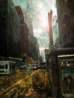 Post-Apocalyptic City by OpticalIrony