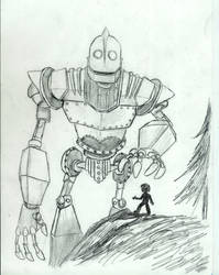 'Sputnik', the Iron Giant by Nandah