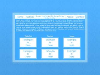 Blue Portfolio Site Layout by DarkVortexX
