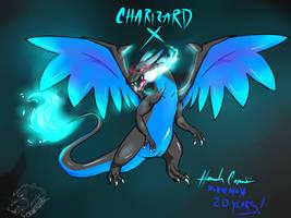 Charizard X by Okamikurama
