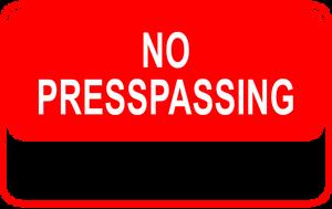 No Presspassing by Dowlphin