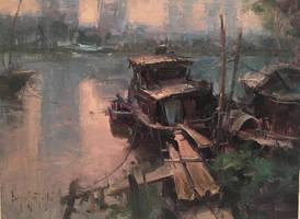 Evening Boat by bryanmarktaylor