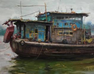 Fishing Boat by bryanmarktaylor