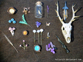 Alchemical ingredients miniature by Frozenmudcrab