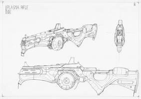Plasma Rifle V2 by Rievil