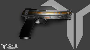 Pistol: C-19 (Chastener) by GreenFireArtist