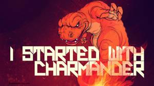 Starters: Charmander by paperbeatsscissors