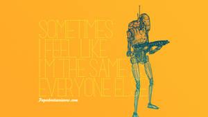 Droid Feelings: Battle Droid by paperbeatsscissors