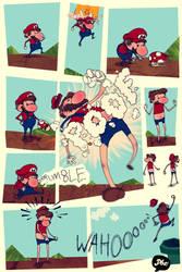 Big Mario by paperbeatsscissors