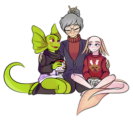 Warm Sweaters  COLLAB by Damian-Fluffy-Doge