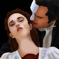 Erik x Christine +Rierra+ Your spirit and my voice by BLOOD-and-LUST-87