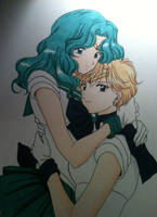 ~Never Let Go~ Michiru and Haruka by Violet-eye-sorceress