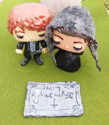 Outlander Claire  Jamie at Faiths Grave by tool8smart