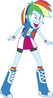 Rainbow Dash Super Excited by Uponia