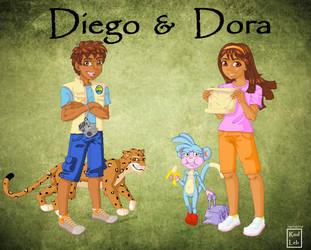 Diego and Dora by rodleb2