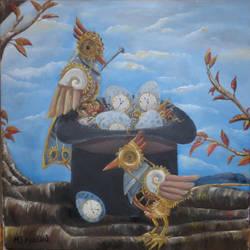 steampunk birds by Lyselle
