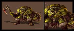 Orc warriors by Amisgaudi