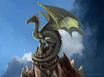 The green dragon by Amisgaudi