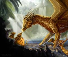 Golden Dragon by Amisgaudi