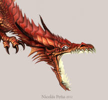 Commissions Dragon, details. by Amisgaudi