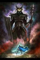 Fingolfin and Morgoth by Amisgaudi