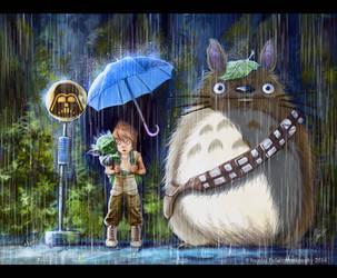 Luke, Yoda and Chewbacca? by Amisgaudi