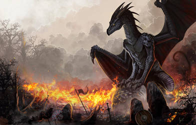 Black Dragon, commission by Amisgaudi