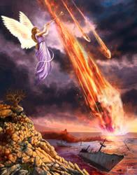 Revelation 8:8, 9,  commission by Amisgaudi