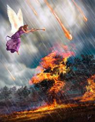 Revelation 8:7,  commission by Amisgaudi