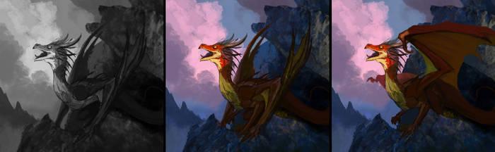 Dragon sketch Commission by Amisgaudi