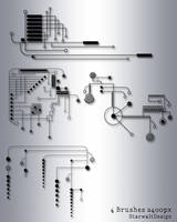 Circuit Board Brushes by StarwaltDesign